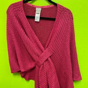 Chico's Raspberry wrap knit new w/out tags L-XL